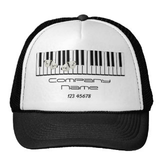 Music Business Theme Mesh Hat