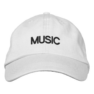 MUSIC CAP EMBROIDERED HAT