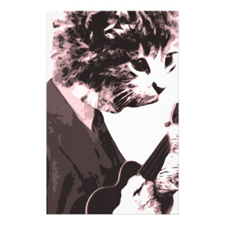 Music cat stationery paper