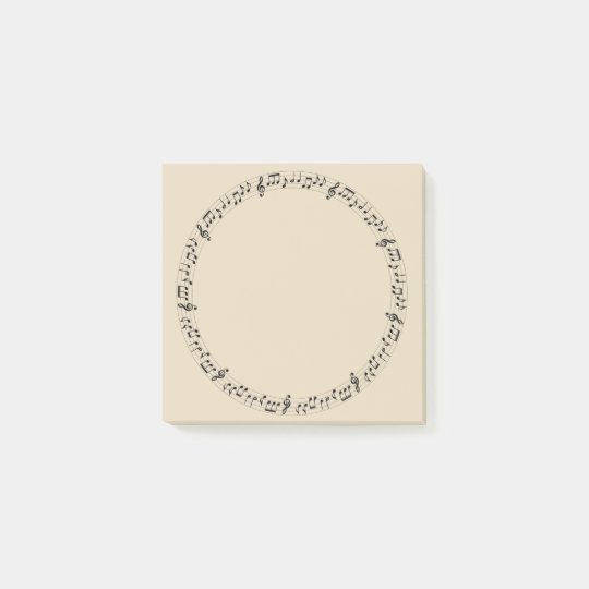 Music Circle Post-it Notes