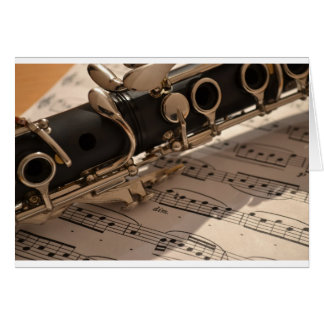 Music Clarinets Musical Notes Destiny Dance Fun Greeting Card
