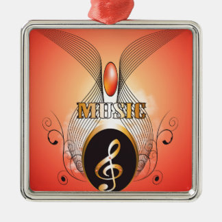 Music clef christmas ornaments