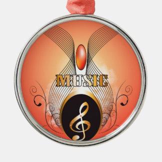 Music clef christmas tree ornaments