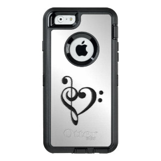 Music Clef Heart Distressed OtterBox iPhone 6/6s Case