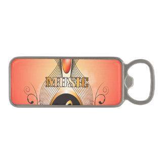 Music clef magnetic bottle opener