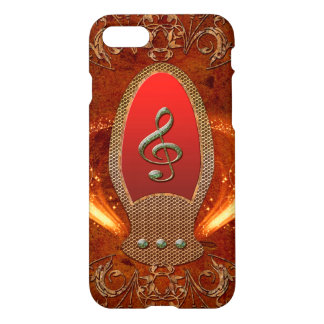 Music, clef made of diamond iPhone 7 case