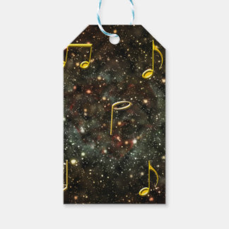Music Clef Musical Notes Starry Sky Pattern Gift Tags