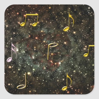 Music Clef Musical Notes Starry Sky Stickers