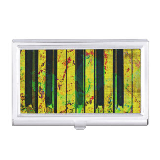 Music Clef Piano Business Card Case