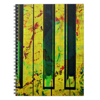 Music Clef Piano Spiral Note Book