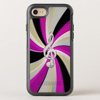Music Clef Swirl in Purple Silver Gold iPhone Case