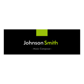 Music Composer - Mint Green Compact Pack Of Skinny Business Cards
