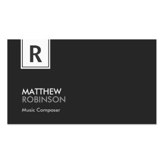 Music Composer - Modern Classy Monogram Pack Of Standard Business Cards