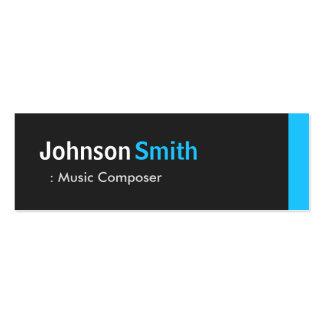 Music Composer - Personal Aqua Blue Mini Pack Of Skinny Business Cards