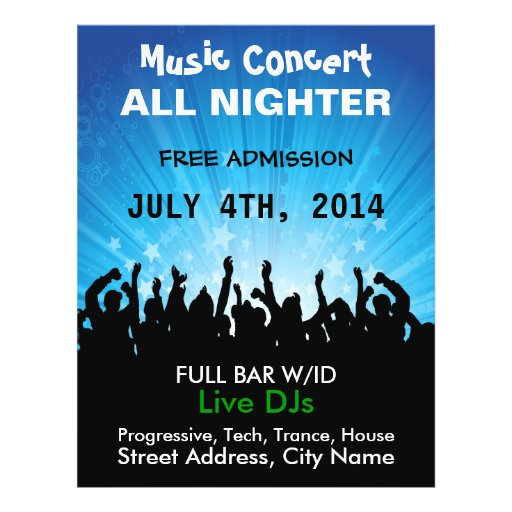 Music Concert All Nighter Music Flyer