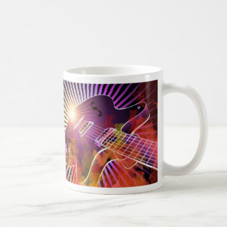 Music Concert Design with Guitar Coffee Mugs