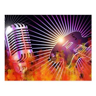 Music Concert Design with Guitar Postcard