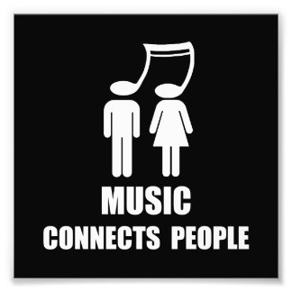 Music Connects People Art Photo