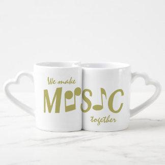 MUSIC custom couple's mugs