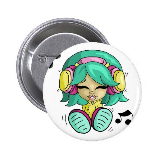 Music cutie buttons