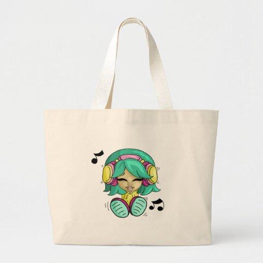 Music cutie canvas bag