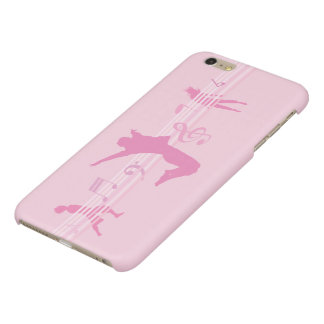 Music Dance and Drama pink Glossy iPhone 6 Plus Case