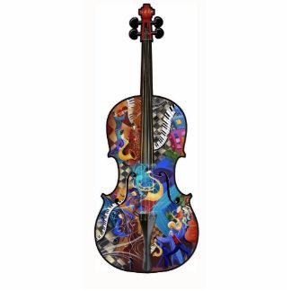 Music Decor, Acrylic Photo Art Sculpture Cello Standing Photo Sculpture