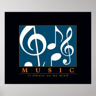 music decor, treble clef note print