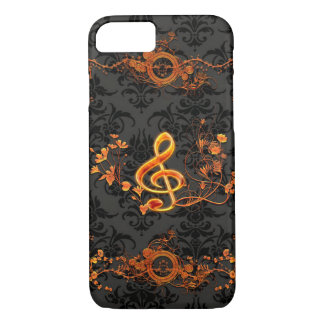 Music, decorative clef iPhone 7 case