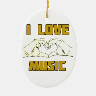 music design ceramic ornament