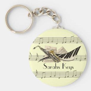 Music Design Keychain