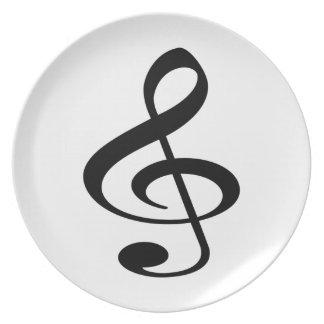 Music Dinner Plate