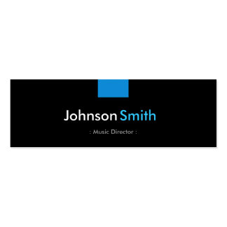 Music Director - Aqua Blue Compact Pack Of Skinny Business Cards