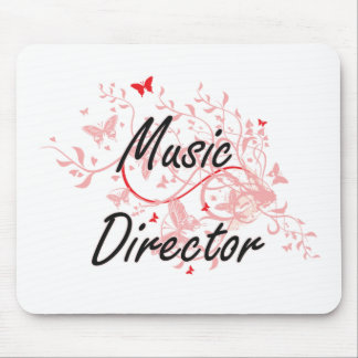 Music Director Artistic Job Design with Butterflie Mouse Pad
