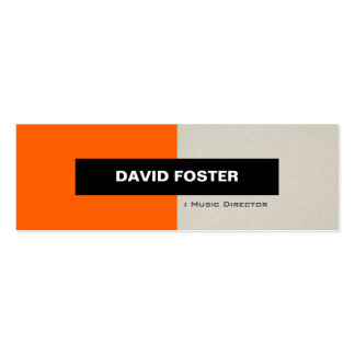 Music Director - Simple Elegant Stylish Pack Of Skinny Business Cards