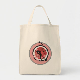music diva vector grocery tote bag