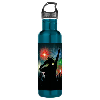Music DJ custom name water bottles