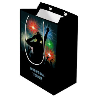 Music DJ custom text gift bag