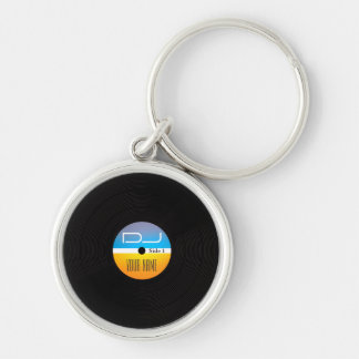 Music DJ stlye vinyl cover Key Ring