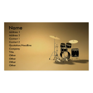 music_drums Double-Sided standard business cards (Pack of 100)