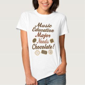 Music Education Major Chocolate T-shirt