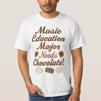 Music Education Major Chocolate Tee Shirts