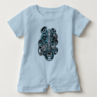 music elephant baby bodysuit