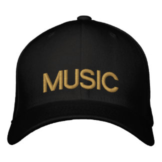 MUSIC EMBROIDERED BASEBALL CAPS