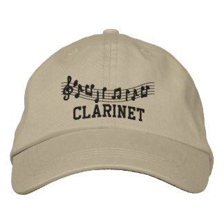 Music Embroidery Clarinet Cap Embroidered Hats