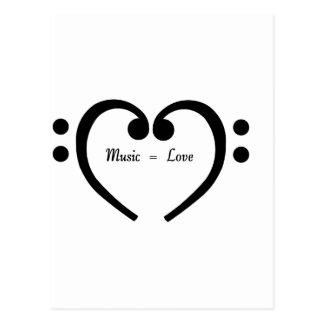 Music equals Love Postcard