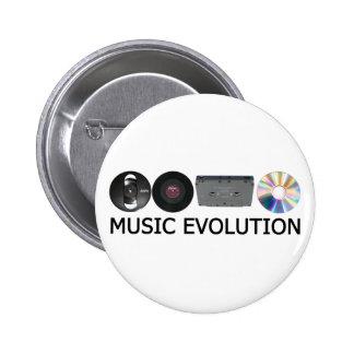 Music evolution 6 cm round badge