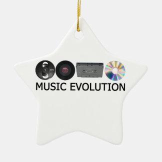 Music evolution ceramic star decoration