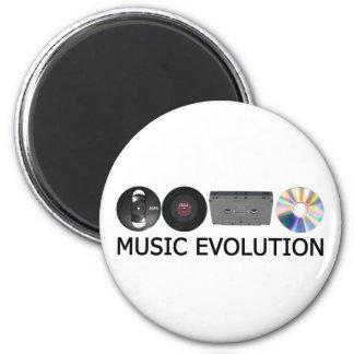 Music evolution magnet