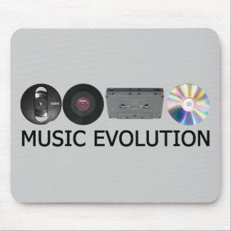 Music evolution mouse pad